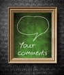 Comments and bubble speech with copy-space chalkboard