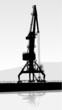 Vector Silhouette of the port crane