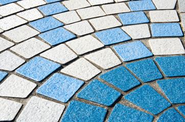 青の石畳 タイル