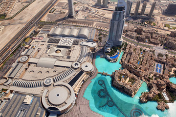 Dubai, the top view on Dubai downtown