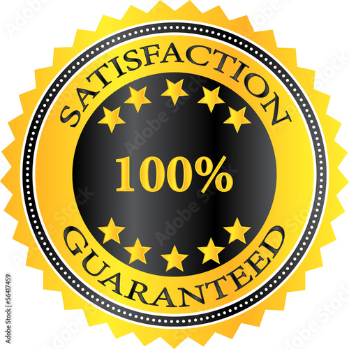 Premium Quality Product Satisfaction Guaranteed Badge
