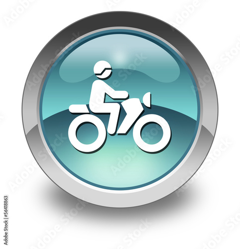 "Light Blue Glossy Pictogram ""Motorbike Trail"""