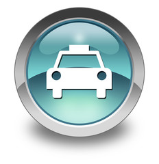 "Light Blue Glossy Pictogram ""Taxi Cab"""