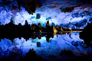 Reed Flute Caves in Guilin, China