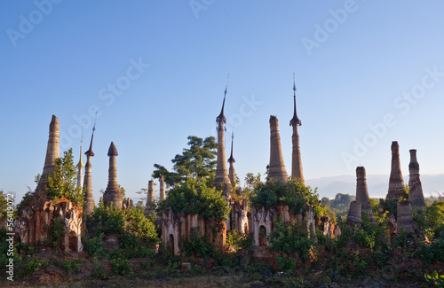 Ancient Inn Thein Pagoda view, Burma