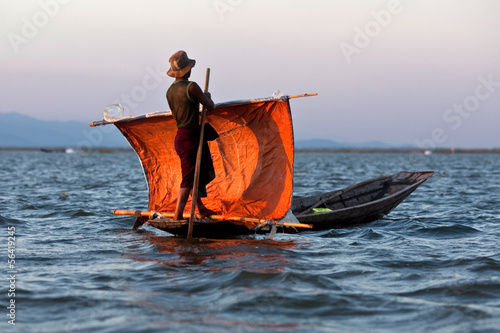 Fisherman of Intha tribe people, Myanmar