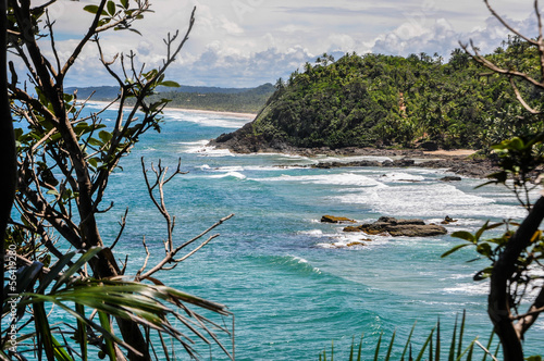 Beautiful wild coastline at Itacare, Bahia, Brazil. South Americ