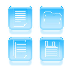 Glassy file icons. Vector illustration