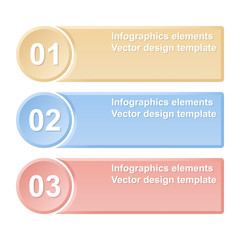 Numbered banners. Infographics elements. Vector illustration