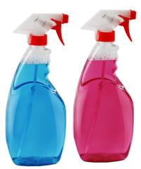 Spray bottle with liquid