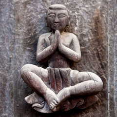 Wooden carved at Shwe Nan Daw Monastery in Mandalay, Myanmar