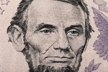 Fragment of five dollars bill