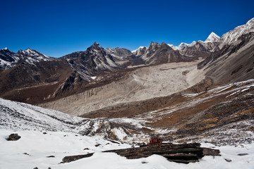 Mountain view from Chukhung Ri in Sagarmatha Park, Nepal