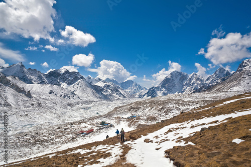Khumbu glacier View from Kala Pattar, Nepal