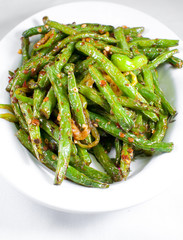 Green string beans chinese dish