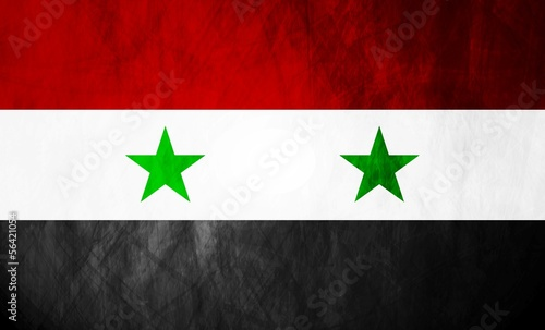 Syrian grunge flag