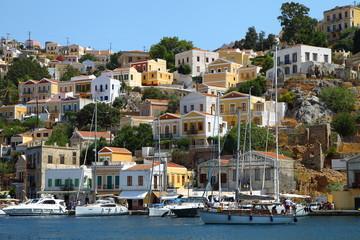 Beautiful view of Symi island in Greece