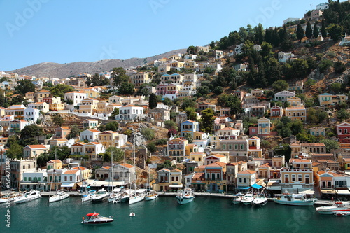 Beautiful view of Symi island in Greece