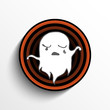 Halloween Ghost Button Icon Stripe
