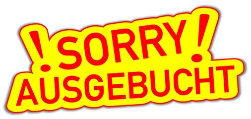 Sorry Ausgebucht  #130919-svg11
