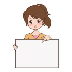 女の子/案内