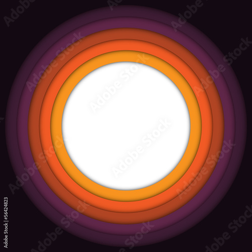 Halloween Frame Circle Stripe Background Vector