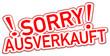Sorry ausverkauft  #130919-svg12