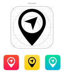 Point icon. Vector illustration.