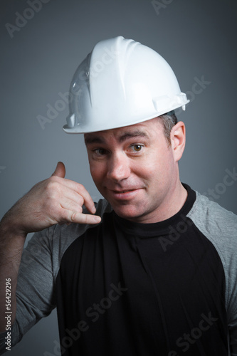 Caucasian man contractor 40 years old