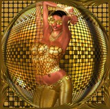 Disco ball dancing girl