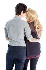 Same sex couple isolated on white background