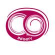 pink infinity symbol