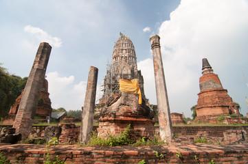 Wat Rat Burana ancient Ayutthaya period.Thailand