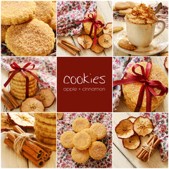 Apple cinnamon cookies set