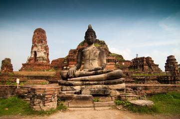 Statue of Buddha at Wat Mahatat, Ayutthaya Thailand.