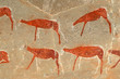 Bushmen rock painting of antelopes, Drakensberg