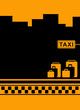 yellow urban taxi background with luggage and cab symbol