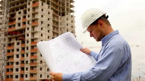 construction engineer at a construction site