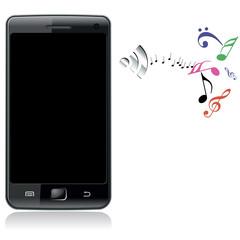 Мобильный телефон и исходящий звук