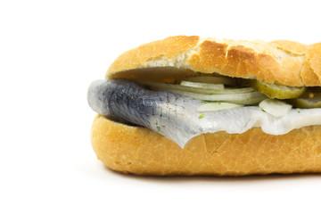 Baguette mit Fisch