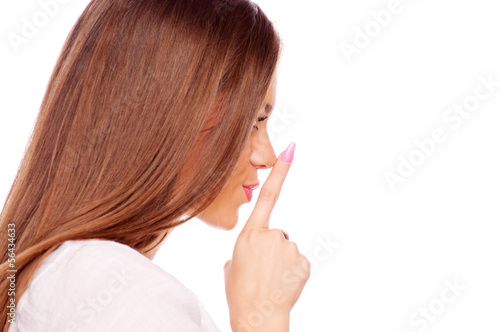 Brunette showing shush