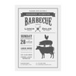 Vintage barbecue invitation card