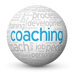 COACHING Tag Cloud Globe (performance skills talent management)