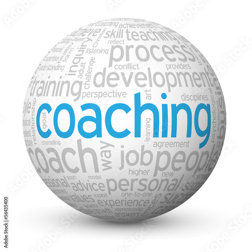 COACHING Tag Cloud Globe (performance skills talent management)