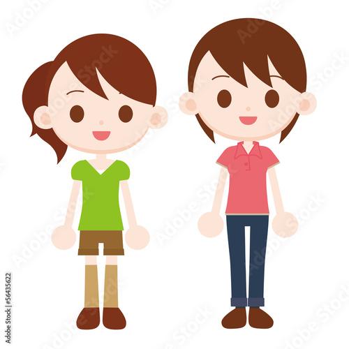 姉と妹 女性2人