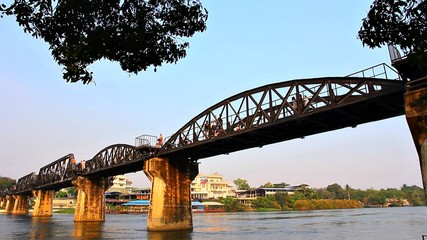 Railway Bridge over the River Kwai. Kanchanaburi, Thailand