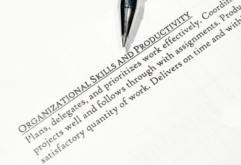 organization and productivity