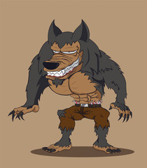 werewolf. Vector illustration