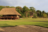 Eco hotel with thatched roof