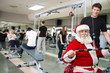 Santa Claus  exercising